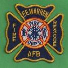 F.E. WARREN AIR FORCE BASE WYOMING CRASH FIRE RESCUE ARFF PATCH