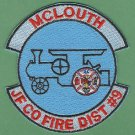 JEFFERSON COUNTY DISTRICT 9 MCLOUTH KANSAS FIRE RESCUE PATCH LOCOMOTIVE