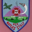 NAPLES ITALY U.S. NAVAL AIR STATION CRASH FIRE RESCUE PATCH