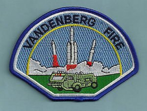 VANDENBERG AIR FORCE BASE CALIFORNIA FIRE RESCUE PATCH