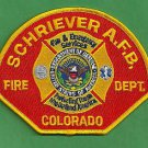 SCHRIEVER AIR FORCE BASE COLORADO CRASH FIRE RESCUE PATCH
