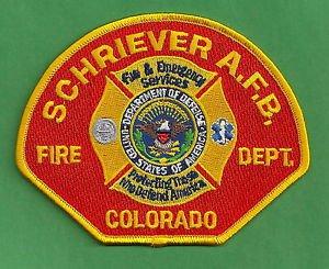 SCHRIEVER AIR FORCE BASE COLORADO CRASH FIRE RESCUE PATCH