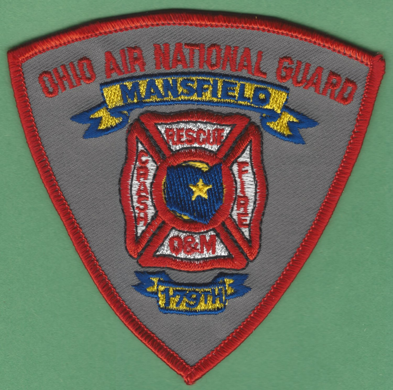 OHIO 179TH AIR NATIONAL GUARD BASE FIRE RESCUE PATCH
