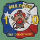 MULDOON TEXAS FIRE RESCUE PATCH