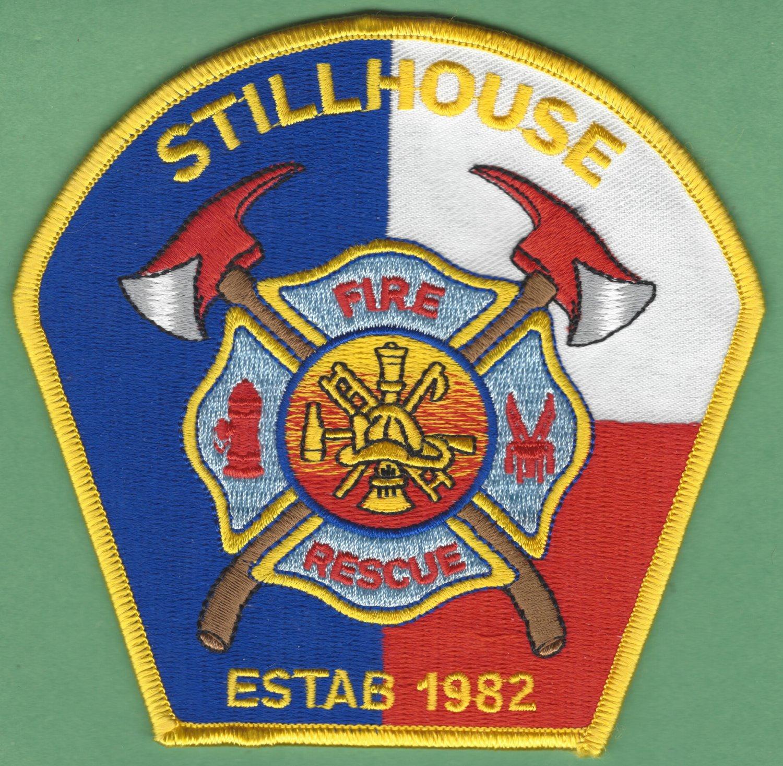 STILLHOUSE TEXAS FIRE RESCUE PATCH