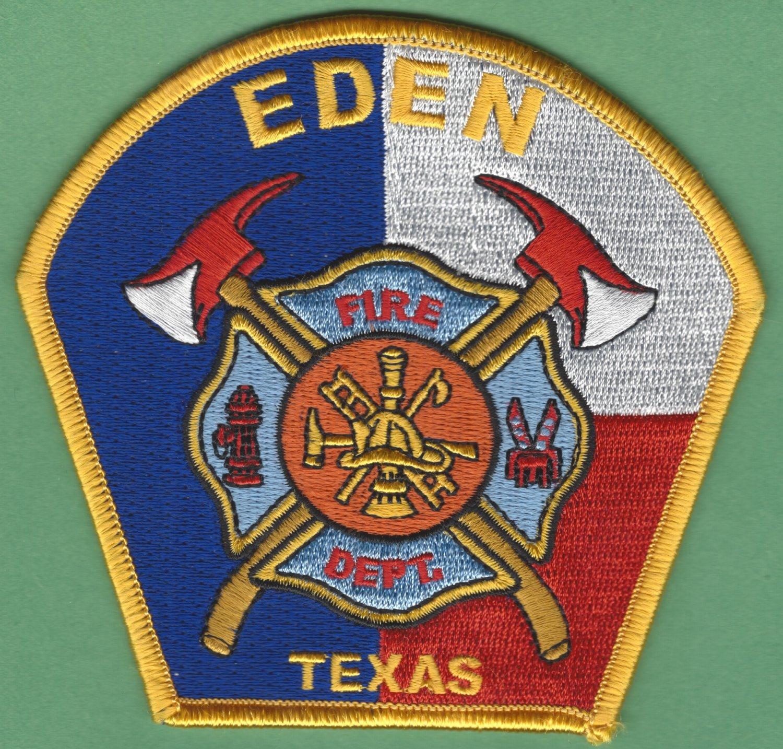 EDEN TEXAS FIRE RESCUE PATCH
