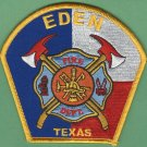 EDEN TEXAS FIRE RESCUE PATCH