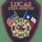 LUCAS TEXAS FIRE RESCUE PATCH