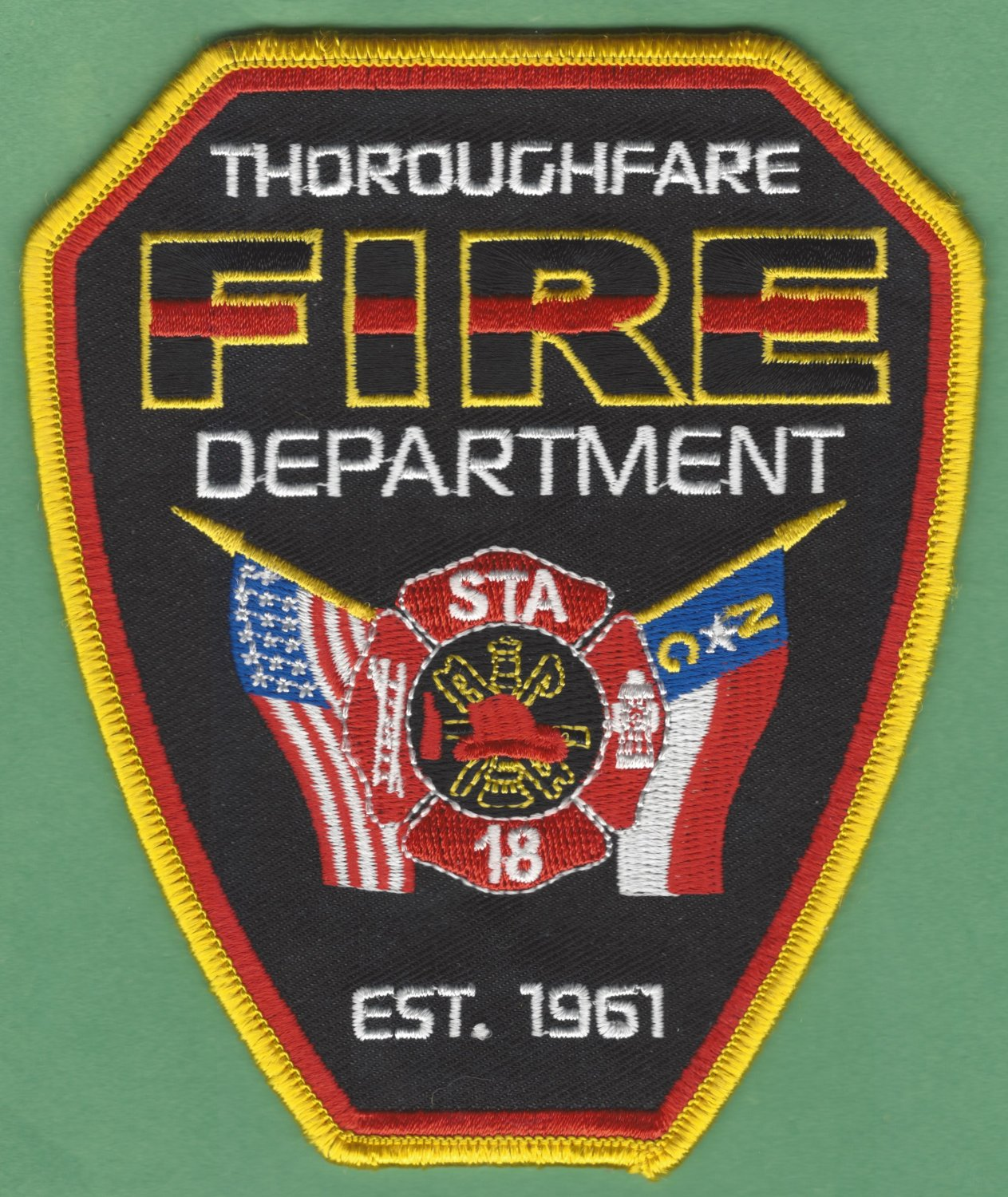 THOROUGHFARE NORTH CAROLINA FIRE RESCUE PATCH