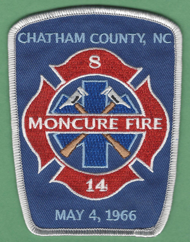 MONCURE NORTH CAROLINA FIRE RESCUE PATCH