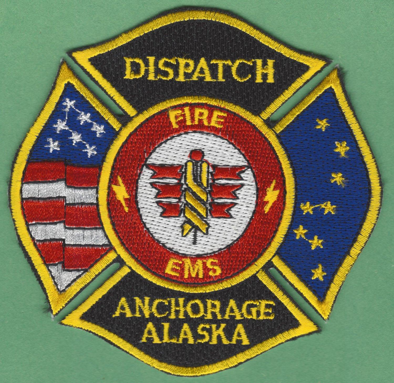 ANCHORAGE ALASKA FIRE RESCUE EMS DISPATCH PATCH