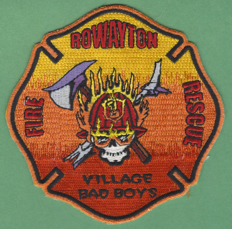 ROWAYTON CONNECTICUT FIRE RESCUE PATCH