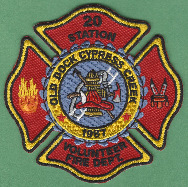 OLD DOCK - CYPRESS CREEK NORTH CAROLINA FIRE RESCUE PATCH