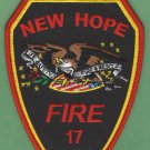 NEW HOPE NORTH CAROLINA FIRE RESCUE PATCH
