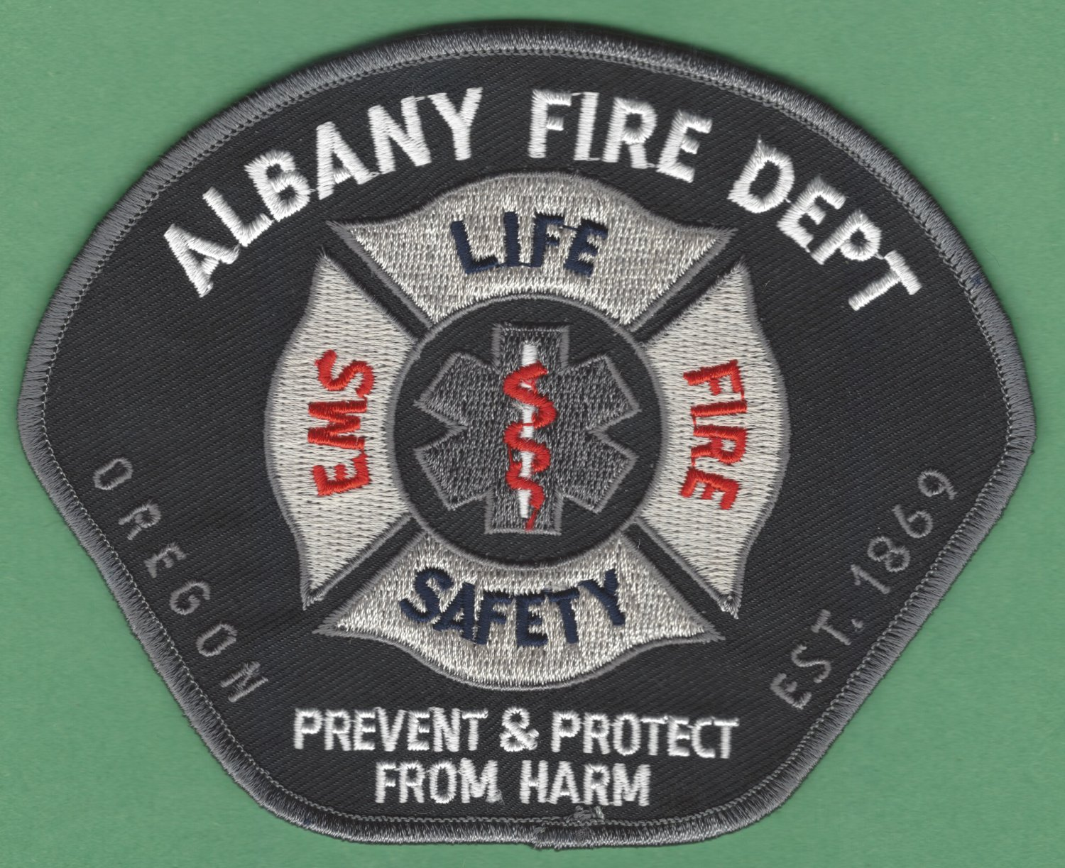 ALBANY OREGON FIRE RESCUE PATCH