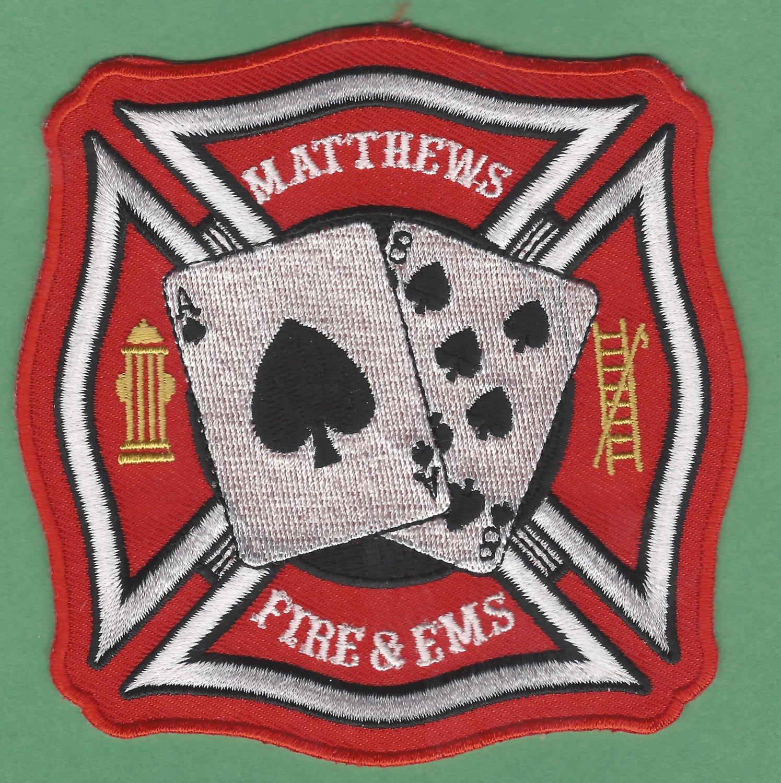 MATTHEWS NORTH CAROLINA FIRE RESCUE PATCH