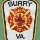 SURREY VIRGINIA FIRE RESCUE PATCH