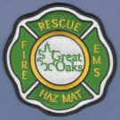 GREAT OAKS OHIO FIRE RESCUE PATCH