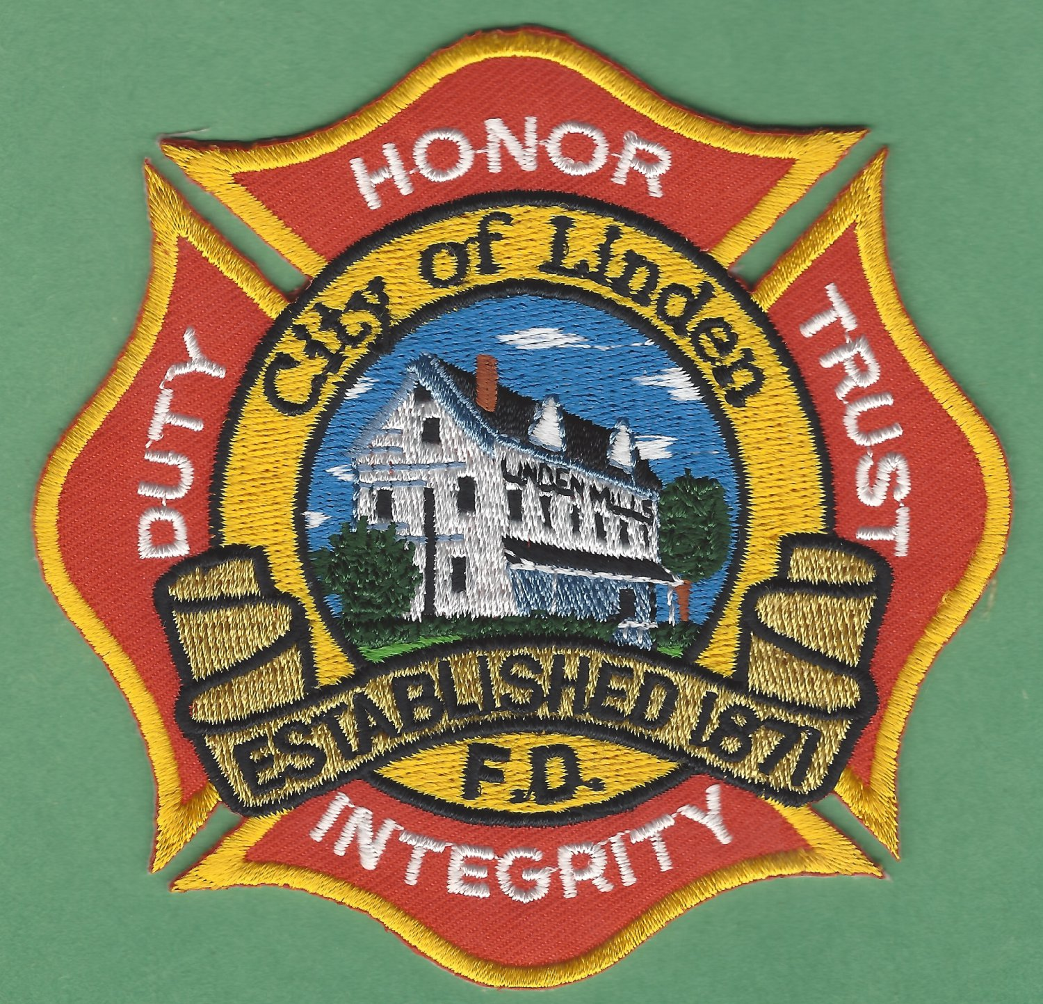 LINDEN MICHIGAN FIRE RESCUE PATCH