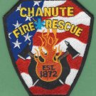 CHANUTE KANSAS FIRE RESCUE PATCH