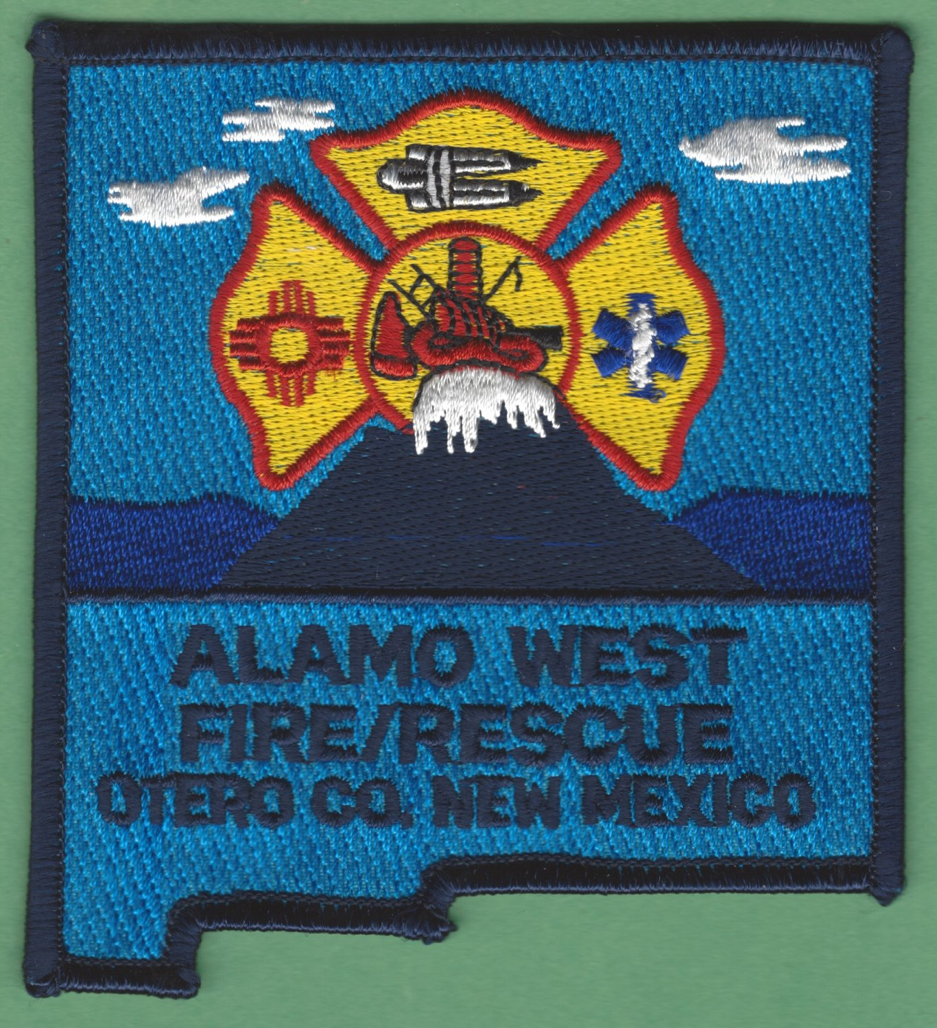 ALAMO WEST NEW MEXICO FIRE RESCUE PATCH