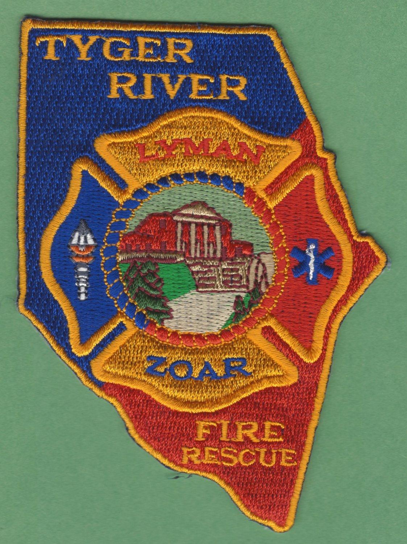 TYGER RIVER SOUTH CAROLINA FIRE RESCUE PATCH