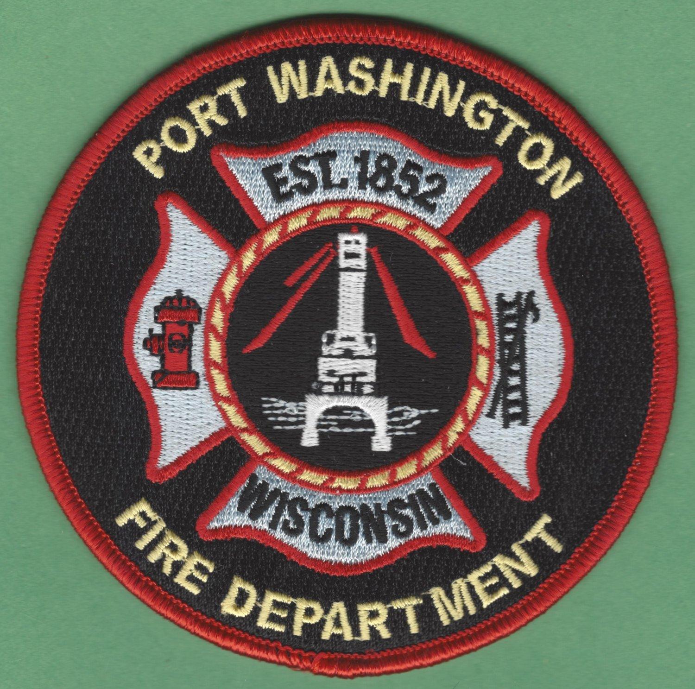 PORT WASHINGTON WISCONSIN FIRE RESCUE PATCH