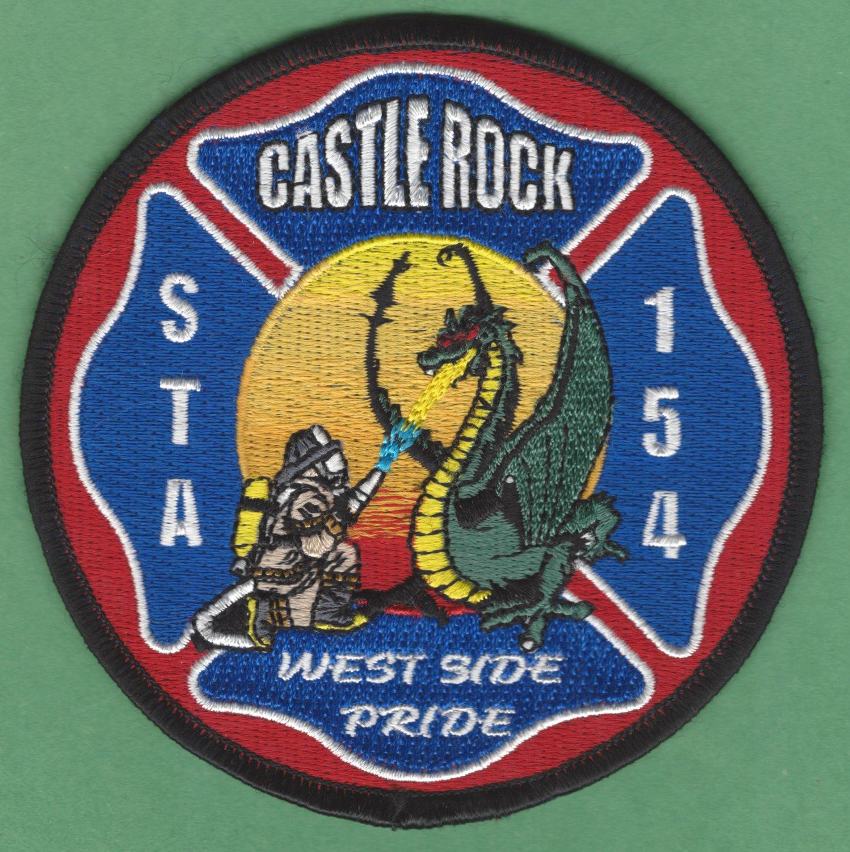 CASTLE ROCK COLORADO FIRE RESCUE PATCH