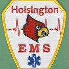 HOISINGTON KANSAS EMS EMERGENCY MEDICAL SERVICE AMBULANCE PATCH
