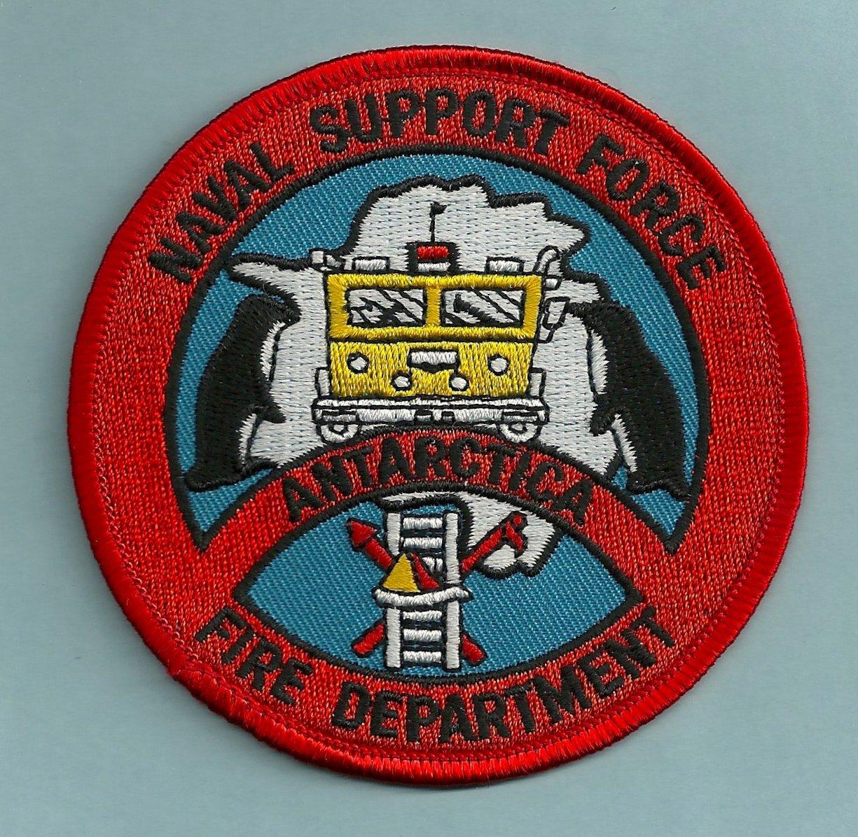 McMurdo Antarctica U.S. Naval Support Force Fire Rescue Patch