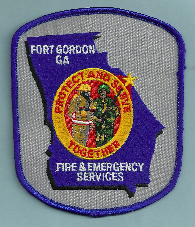 FORT GORDON ARMY BASE GEORGIA FIRE RESCUE PATCH