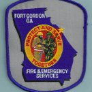 FORT GORDON ARMY BASE GEORGIA FIRE RESCUE PATCH