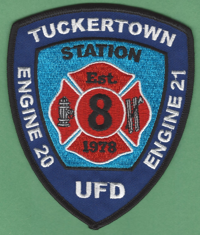 UNION FIRE DISTRICT TUCKERTOWN RHODE ISLAND FIRE RESCUE PATCH