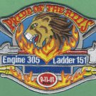 Queens New York Engine 305 Ladder 151 Company Fire Patch