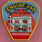 Brooklyn New York Engine Company 240 Fire Patch