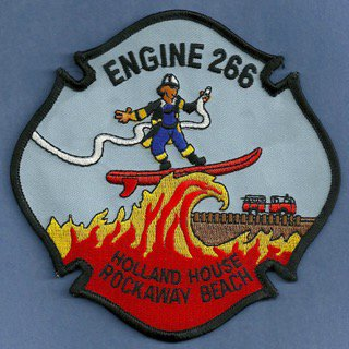 Queens New York Engine Company 266 Fire Patch