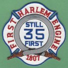 Harlem New York Engine Company 35 Fire Patch