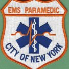 New York City EMS Emergency Medical Service Paramedic Patch