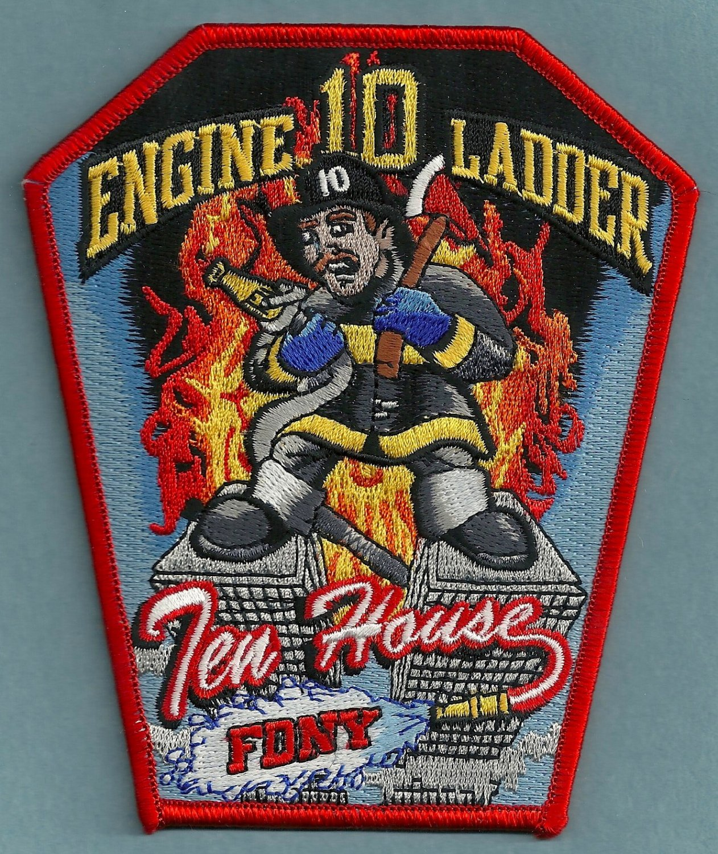 Manhattan New York Engine 10 Ladder 10 Company Fire Patch