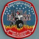 Manhattan New York Engine 8 Ladder 2 Company Fire Patch