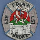 Bronx New York Engine 38 Ladder 51 Company Fire Patch