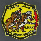 Harlem New York Engine 53 Ladder 43 Fire Company Patch