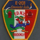 Brooklyn New York Engine Company 201 Fire Patch