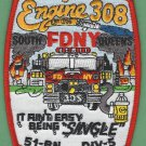 Queens New York Engine Company 308 Fire Patch