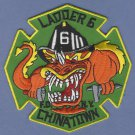 FDNY Manhattan New York Ladder Company 6 Fire Patch