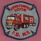 New York Fire Department Super Pumper Unit Patch