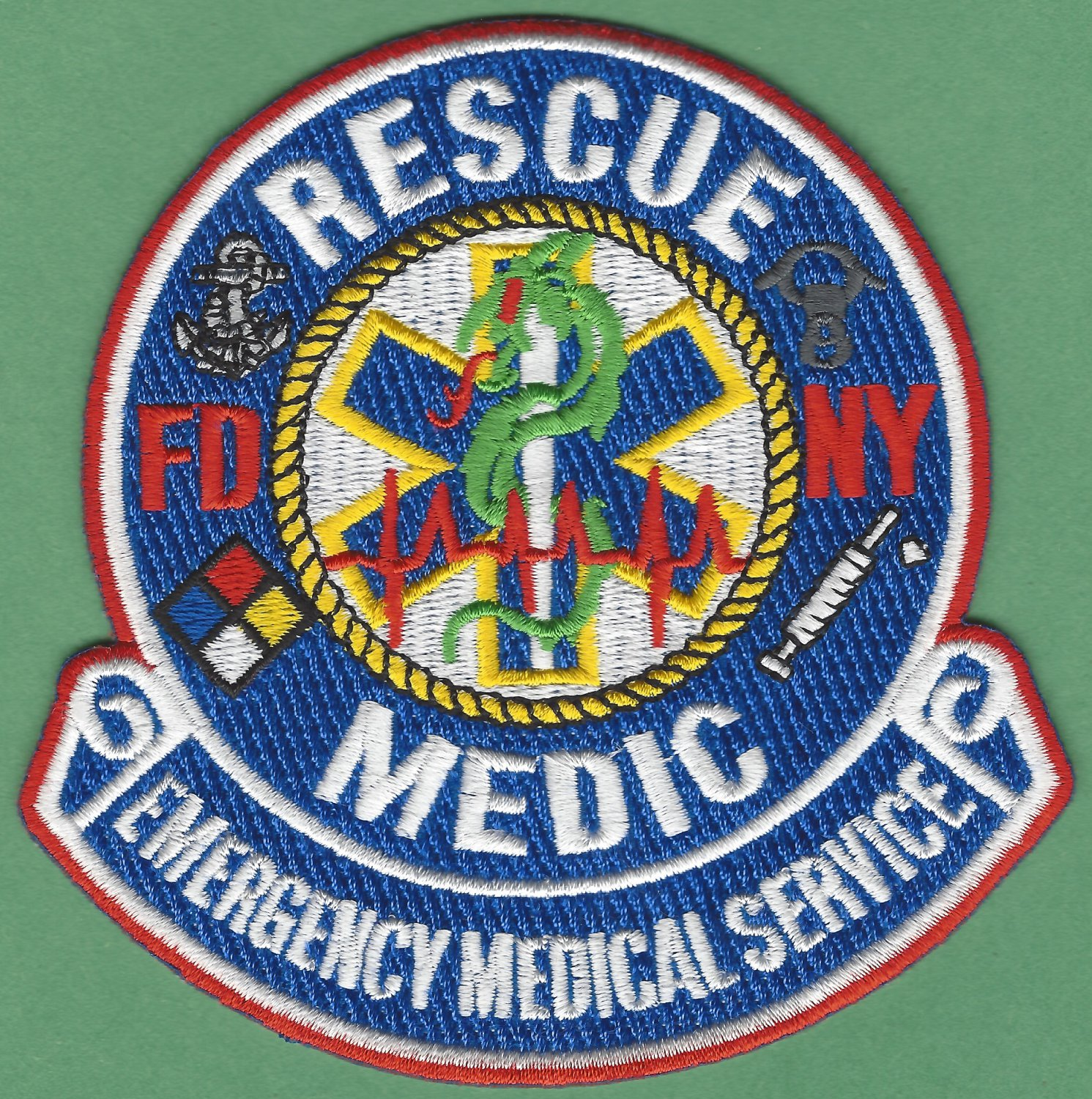 New York EMS Emergency Medical Service Rescue Medic Fire Patch