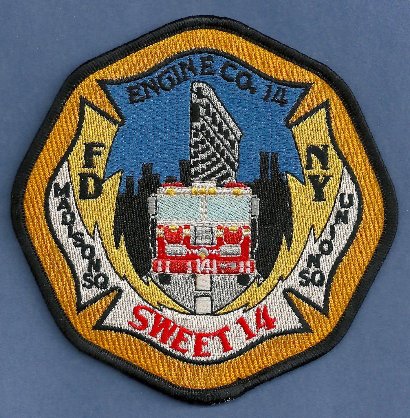 Manhattan New York Engine Company 14 Fire Patch