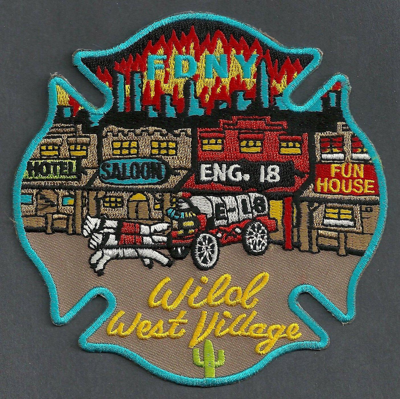 Manhattan New York Engine Company 18 Fire Patch