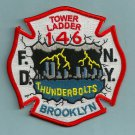 Brooklyn New York Ladder Company 146 Fire Patch